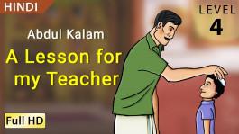 Abdul Kalam: A Lesson for my Teacher hindi