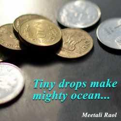 Tiny drops make mighty ocean by Meetali R in Gujarati