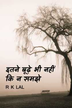NEVER TOO OLD TO UNDERSTAND by r k lal in Hindi