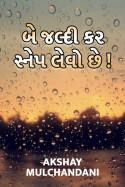 Be jaldi kar, snep levo chhe by Akshay Mulchandani in Gujarati