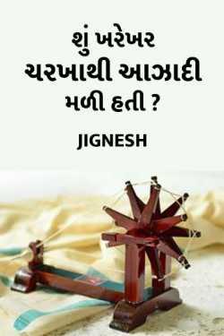 Shu Kharekhar Charkha thi Azadi mali hati by J I G N E S H in Gujarati