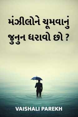 Manzilone chumvanu junoon dharavo chho ? by Vaishali Parekh in Gujarati