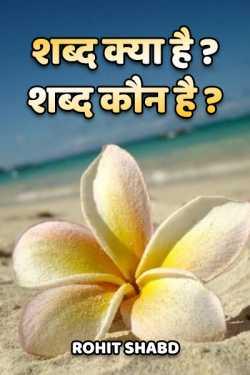 Shabd kya he - shabd koun hai ? by Rohit Shabd in Hindi