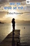 क्या तुम वापस आ गयी ? पार्ट - २ बुक zeba praveen द्वारा प्रकाशित हिंदी में