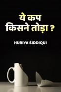 ये कप किसने तोड़ा? बुक Huriya siddiqui द्वारा प्रकाशित हिंदी में