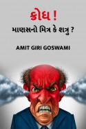 ક્રોધ ! માણસનો મિત્ર કે શત્રુ ??? by Amit Giri Goswami in Gujarati