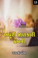 ગાયત્રી પટેલ દ્વારા અધૂરી જાણકારી પ્રેમની - 13 ગુજરાતીમાં