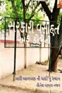 મારી શાહ આલમ એફ કોલોની by DINESHKUMAR PARMAR in Gujarati