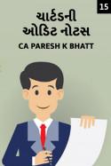 ચાર્ટડ ની ઓડિટ નોટસ - 15  લુક   ડાઉનનો સમય (નીચું જોવા નો સમય) by Ca.Paresh K.Bhatt in Gujarati