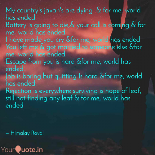 Quotes, Poems and Stories by Himalay Raval | Matrubharti