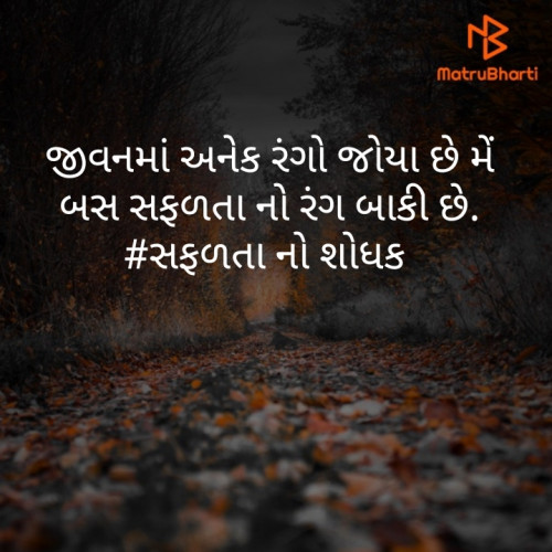 #સફળતાStatus in Hindi, Gujarati, Marathi | Matrubharti