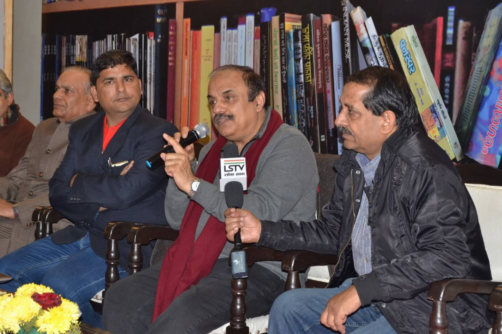 Writer Tejendra sharma at Authors corner
